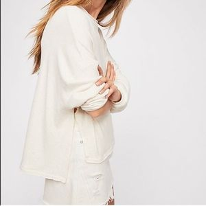 🆕⭐️FREE PEOPLE⭐️ SZ S Be Good terry pullover